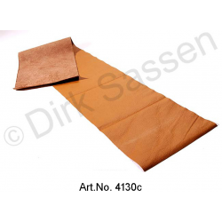 Cover for dashboard, leather, dark brown, until 1968