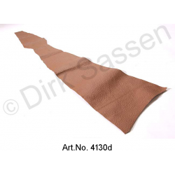 Cover for B pillar, inside, leather, dark brown, top part, right