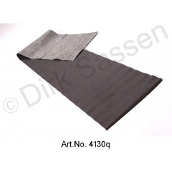 Cover for dashboard, leather, black