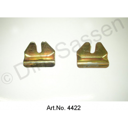 Set of holders for windscreen, yellow chromated