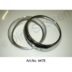 Trim ring for headlights, until 1967, reproduction, without inner holder