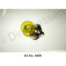 Light bulb, 40/45 watts, yellow, bilux, export only
