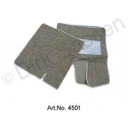 Set of floor mats, until 1967, semi-automatic, gray, looped cover, front and back