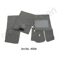 Set of floor mats, semi-automatic, gray, 3-part (front back and brake button)