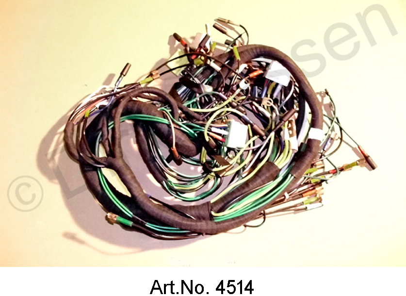 Wiring harness, alternating current, from 09/1971, left battery, round on