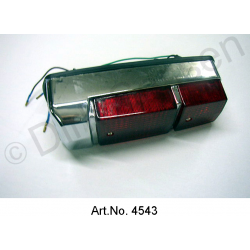 Cap for rear light, with base, right, Pallas, chrome-plated, newly manufactured