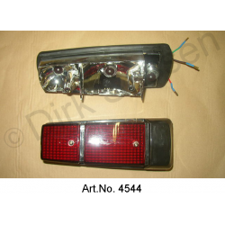 Rear light cap, with base, left, Non Pallas, black, newly made