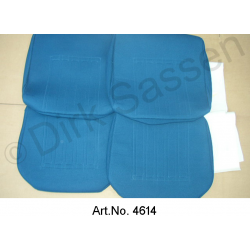 Seat covers, Non-Pallas, velor, front seats and rear seat, not mounted