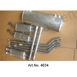 Exhaust system, SM, made of metal