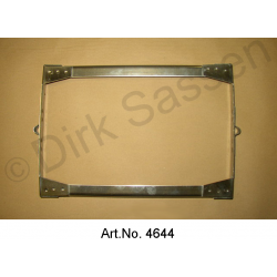 Battery frame, stainless steel, 1967 to 1969, battery right, without mounting for controller