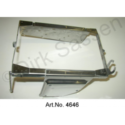 Battery frame, stainless steel, from 1969, with mounting for controller and relay