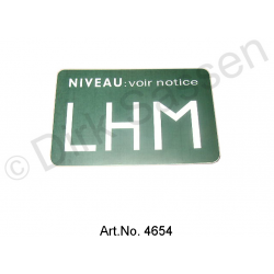 Sticker, LHM,  'level voir notice`