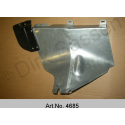 Cover plate for hydraulics, with mud flap, rear, left