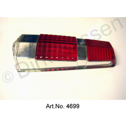 Rear light cap, Pallas, until 1969, red brake light, newly manufactured, without inlet