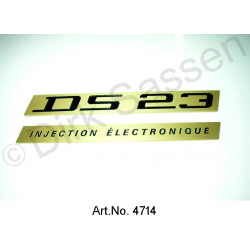 Monogramm, ´DS 23 injection electonique`, 2 Enblemschilder