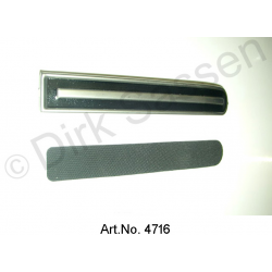 Chrome trim, for accelerator with rubber damping