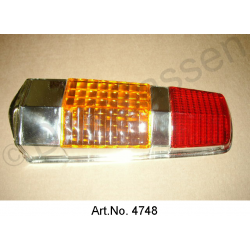 Cap for rear light, Pallas, until 1969, orange brake light