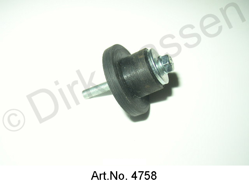 Rubber mounting, with screw, for cable connection cross