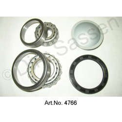 Rear wheel bearing repair kit, 4 pieces, inner and outer wheel bearing, grease cap, oil seal