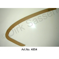 Cardboard door panel, sickle, front and back, for Non-Pallas, armrest