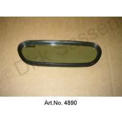 Interior mirror insert, 3 parts, until 1968, with plastic frame, mirror glass and glass cover