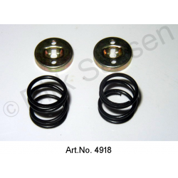 Brake spring and bracket, rear, 2-piece, left or right