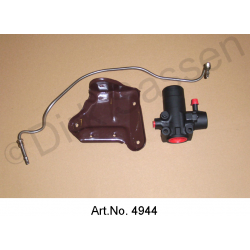 Conversion kit for pressure regulator, LHS, from aluminum to steel, with bracket and main pressure line, bent