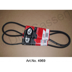 V-belt, pair, water pump and alternator, 10 x 975 mm, Gates high quality, from 1968