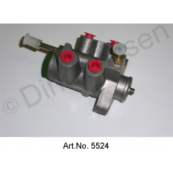 Brake valve, for brake pedal, V-shape, refurbished, LHM, made of aluminum, without collar, exchange part