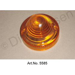 Cap for rear light, Break, orange, diameter 70 mm, hole spacing screw connection 51 mm
