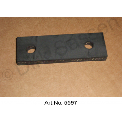 Attached rubber, rear, newly manufactured, short, on the rear silencer / intermediate tubes