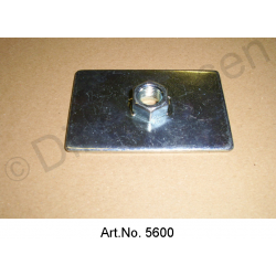 Base plate for automatic belt, large, with thread, 90 x 50 mm