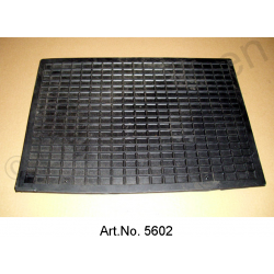 Protective mat, rubber, black, rectangular, 43 x 30 cm