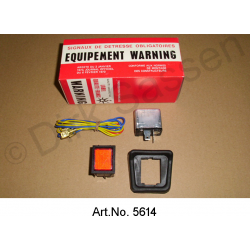 "Hazard warning system, contemporary with switch and relay,  ""Equipement Warning"""