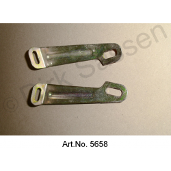 Holder on the fender, for headlamp housing, set, left and right, used in good condition