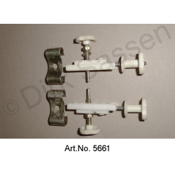 Adjustment unit with clamp, for spotlights, in the headlight housing, set, left and right, used in good condition