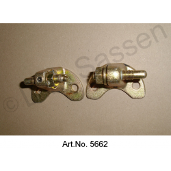 Door hinge set, A or B pillar, left, with bolt and nut, mint condition