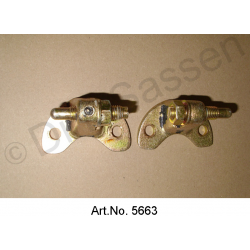 Door hinge set, A or B pillar, right, with bolt and nut, mint condition