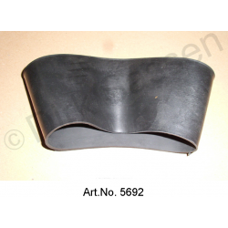 Rubber for radiator fan box, to the dashboard, left side
