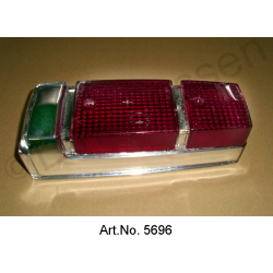 Rear light cap, Pallas, from 1970, chromed, 2nd quality, good reproduction