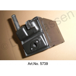 Heating radiator, small, with flange for heating valve, from 1969, newly manufactured, without exchange part