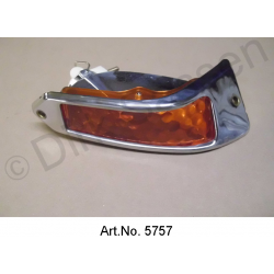 Turn signal, Pallas, orange, right, until 1967, with chrome frame, reproduction