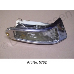 Turn signal, Pallas, white, right, until 1967, with chrome frame, reproduction