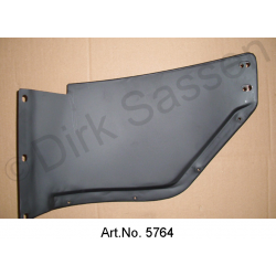 Splash plate for front bumper, right, metal, until 1967