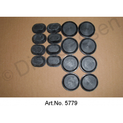 Set of door plugs, complete (8 x oval, 8 x round)