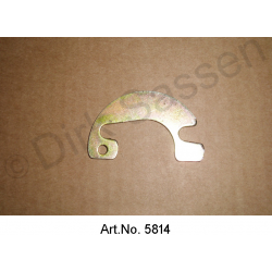 Washer for door hinge, on the A or B pillar, yellow chromated