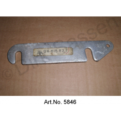 Distance plate for bumper, to frame shoe, made of aluminum, from 1967, as new