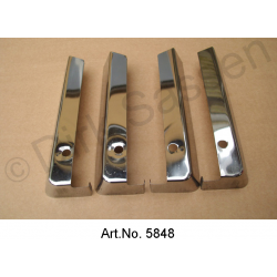 Chrome covers for seat rails, set, Pallas, until 09/1968, used in good condition