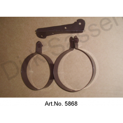 Set of brackets for air hose, 3-piece, for fenders, left and right, from 1967, brown, powder-coated, mint condition