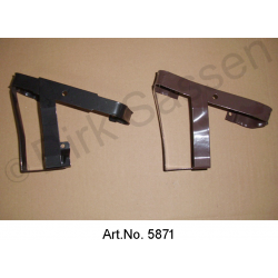 Holder for hydraulic canister, mudguard, front right, black or brown, powder-coated, mint condition